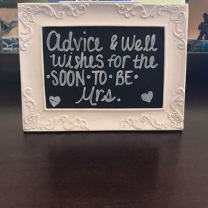 5x7 Advice and Well Wishes Sign for Bridal Shower